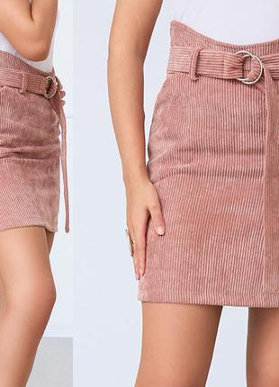 Модная вельветовая мини юбка