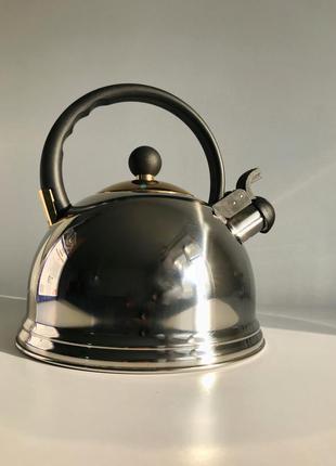 Чайник 2.5, металлический чайник, чайник для плиты.