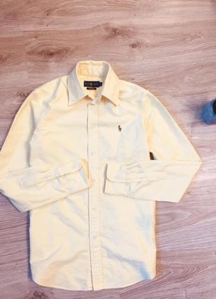 Оригинальная хлопковая рубашка от ralph lauren