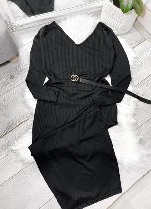 Чёрное макси платье