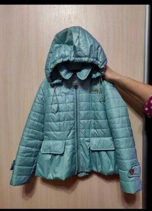 Куртка на девочку осень весна 122-128