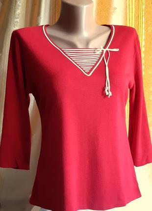 Красная блузка , кофточка с рукавом 3/4 от английского бренда  one by one