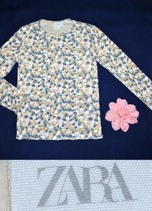Кофточка реглан в цветочек zara на 7-8лет