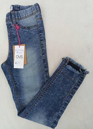 Стильні стрейч джинси на дівчинку  на зріст 140 см.