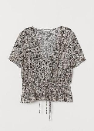 Блуза на пуговицах в цветочный принт zara