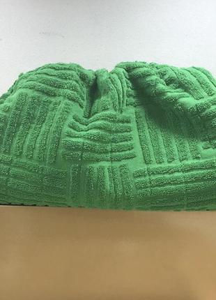 Стильная махровая сумка пельмень в стиле bottega veneta