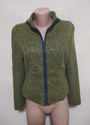 Пиджак жакет кардиган кофта хаки болотная зеленая шерстяная шерсть красивая интересная