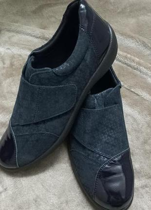 Туфли кожаные жен. 41р.padders .clarks англии