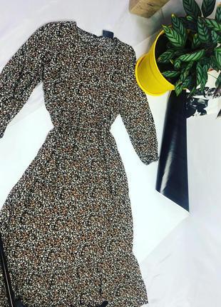 Миди платье в леопардовый принт