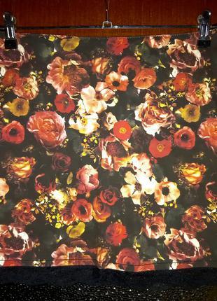 Красочная  юбка с кружевом, amisu