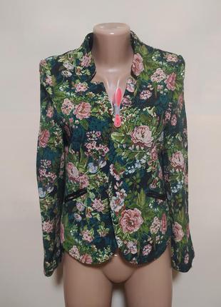 Пиджак жакет кардиган яркий в цветах зеленый вышиванка разноцветный розовый красивый интересный