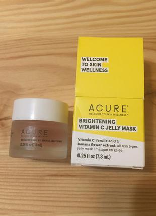 Осветляющая гелевая маска для лица acure brightening vitamin c jelly mask с витамином c 7 мл