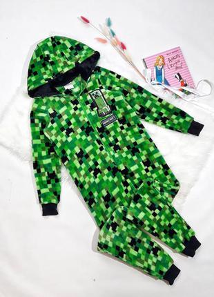 Плюшевая комбез-пижама minecraft на 10 лет, состояние идеальное