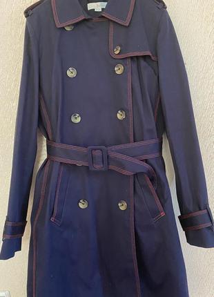 Плащ тренч пальто boden темно синий