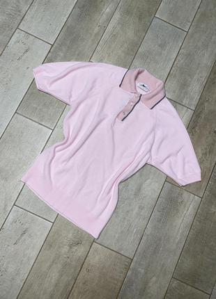 Розовая футболка поло(12)