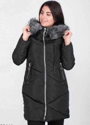Куртка чорна зимова
