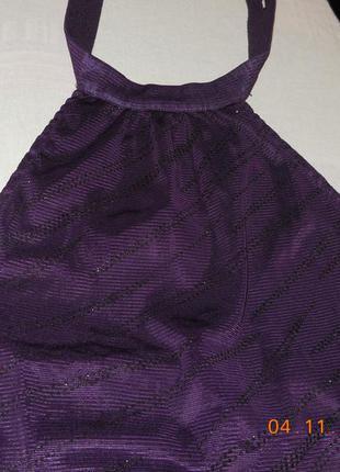 Маечка фиолетовая открытая спинка