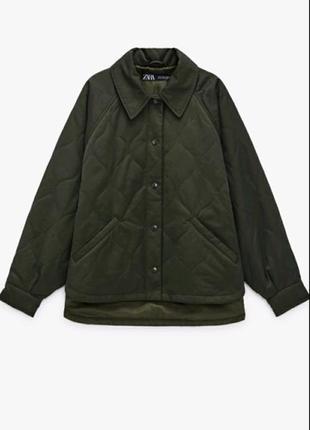 Куртка рубашка бомпер zara стеганая xs, s