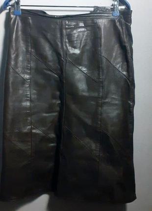 Кожаная винтажная юбка аля 80-е