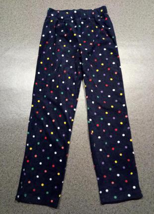 Флисовые пижамные, домашние штанишки на 9-10 лет, 140 см
