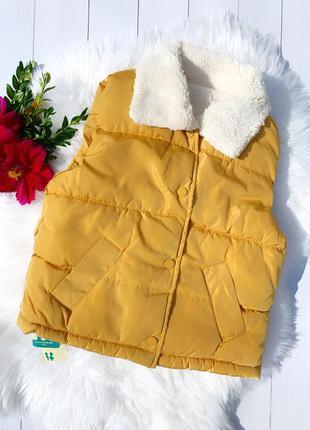 Очень крутая тёплая жилетка для девочек и мальчиков