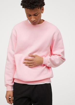 Свитшот базовый унисекс розовый кофта