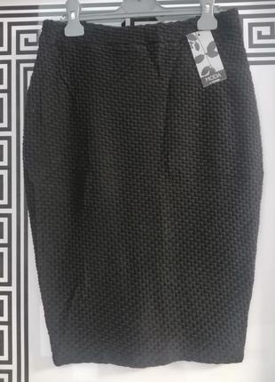 Спідниця юбка карандаш чорного кольору розмір виробника 10, нова з біркою 💃