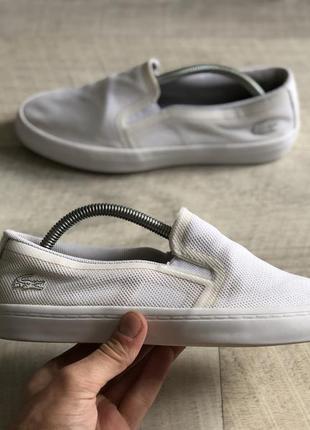 Lacoste casual bijela cipele кеди мокасіни оригінал