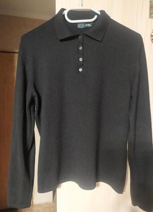 Bottega свитер - поло  из шерсти и шелка  l