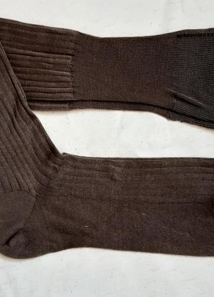 Коричневые высокие носки гольфы франция размеры 46-47