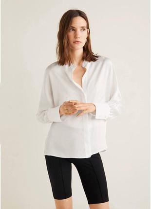 Белая блуза оверсайз zara