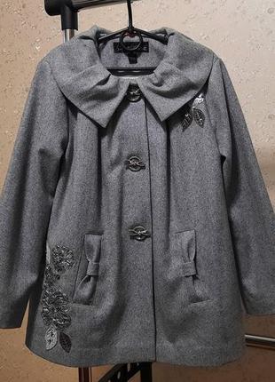 Пальто next signature 9-10 лет 140 см шерсть демисезон