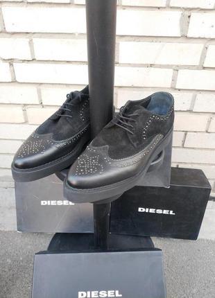Мужские ботинки  броги  оксфорды creep deep d-aseree итальянского бренда diesel оригинал италия