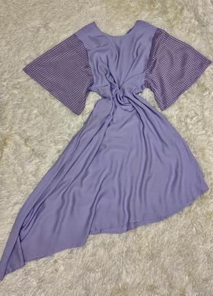 Красивое лавандовое платье marks&spenser