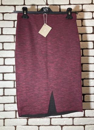 Новая , бордовая миди-юбка stradivarius
