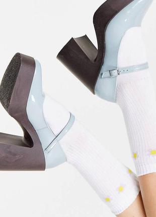 Красивые туфли на толстой подошве mary jane