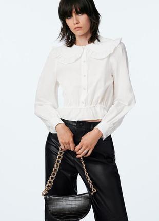Блуза хлопковая zara