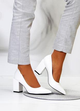 """Туфли """"ground"""" женские белый экокожа туфлі жіночі білий екокожа"""