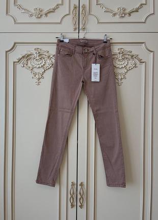Кофейные джинсы skinny