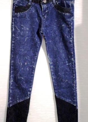 Стильные джинсы скинни с кружевом