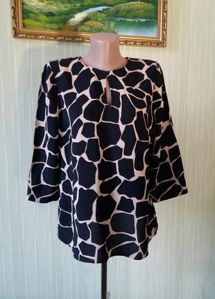 Блуза от дорогого британского бренда hobbs шикарный и уникальный дизайн анималистический принт жирафы