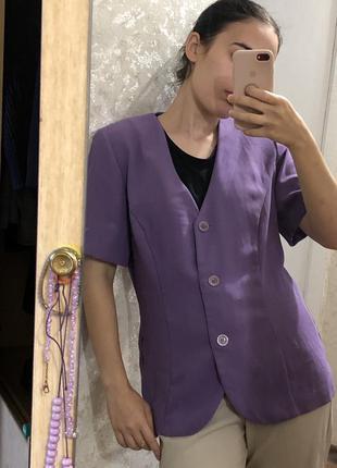 Шикарный лавандовый пиджак винтаж оверсайз