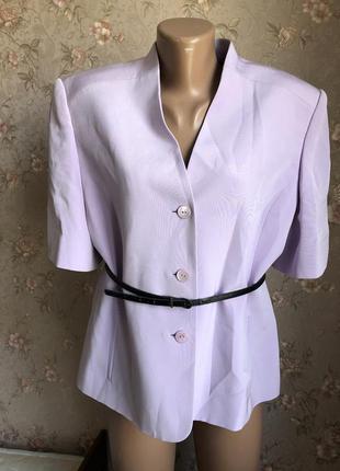 Шикарный лавандовый пиджак винтаж шёлк
