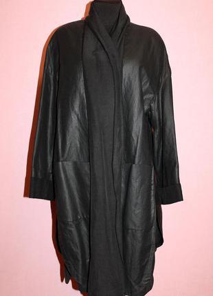 Шикарная винтажная ретро накидка полу пальто на запах yell 70-80-е