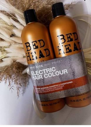 Набор шампунь +кондиционер для окрашенных волос tigi bed head electric hair colour