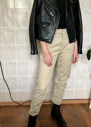 Классические бежевые штаны mango в идеальном состоянии
