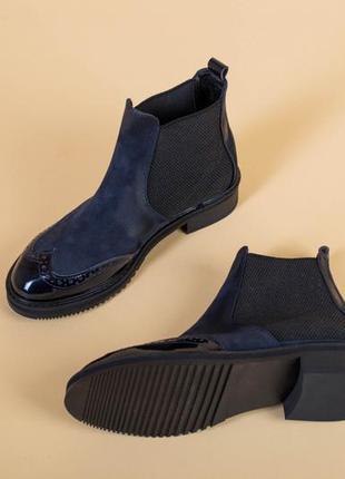 Ботинки челси из нубука с кожподкладкой