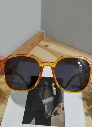 Новые солнцезащитные очки желтые большие оранжевые окуляри сонцезахисні великі