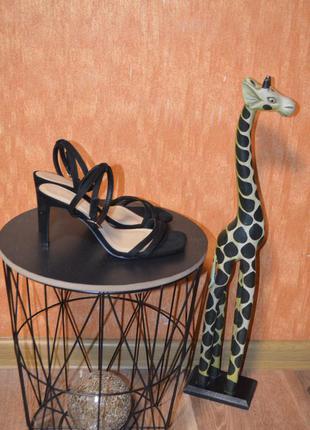 Тренд, босоножки с квадратным носком на шпильке 23 см