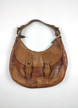 Винтажная сумка mulberry кожа крокодила